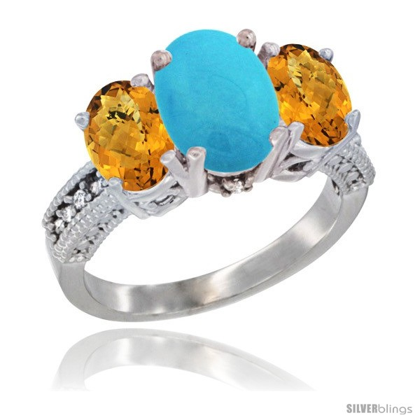 https://www.silverblings.com/31245-thickbox_default/10k-white-gold-ladies-natural-turquoise-oval-3-stone-ring-whisky-quartz-sides-diamond-accent.jpg