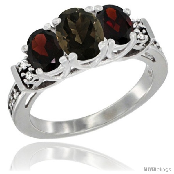 https://www.silverblings.com/3125-thickbox_default/14k-white-gold-natural-smoky-topaz-garnet-ring-3-stone-oval-diamond-accent.jpg