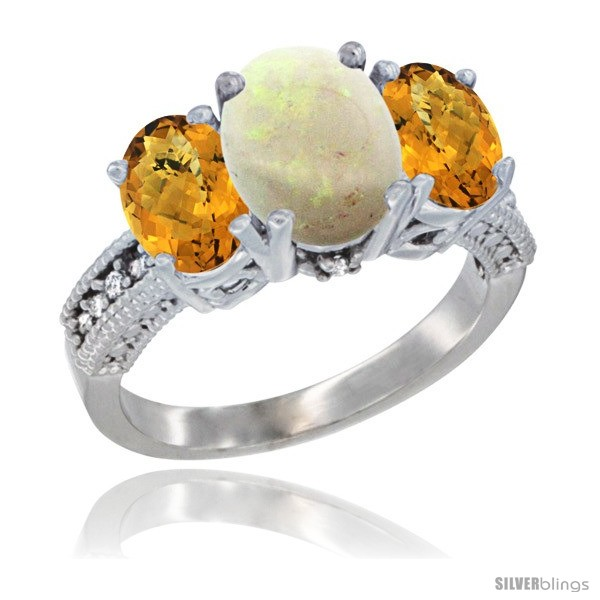 https://www.silverblings.com/31259-thickbox_default/10k-white-gold-ladies-natural-opal-oval-3-stone-ring-whisky-quartz-sides-diamond-accent.jpg