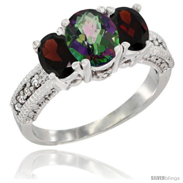 https://www.silverblings.com/3127-thickbox_default/14k-white-gold-ladies-oval-natural-mystic-topaz-3-stone-ring-garnet-sides-diamond-accent.jpg