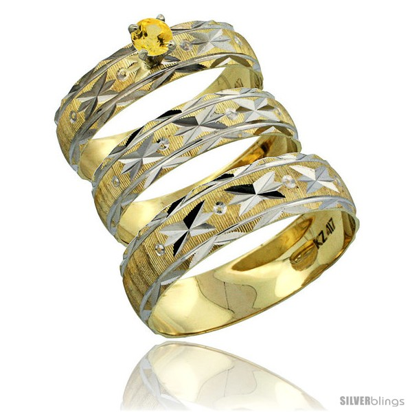 https://www.silverblings.com/31302-thickbox_default/10k-gold-3-piece-trio-yellow-sapphire-wedding-ring-set-him-her-0-10-ct-rhodium-accent-diamond-cut-pattern-style-10y506w3.jpg