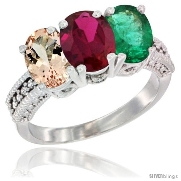 https://www.silverblings.com/31350-thickbox_default/14k-white-gold-natural-morganite-ruby-emerald-ring-3-stone-oval-7x5-mm-diamond-accent.jpg