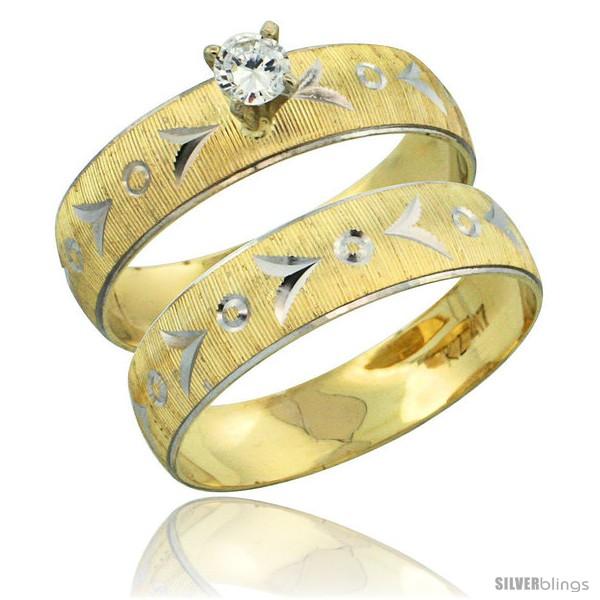 https://www.silverblings.com/31483-thickbox_default/10k-gold-ladies-2-piece-0-10-carat-diamond-engagement-ring-set-diamond-cut-pattern-rhodium-accent-3-16-in-style-10y507e2.jpg
