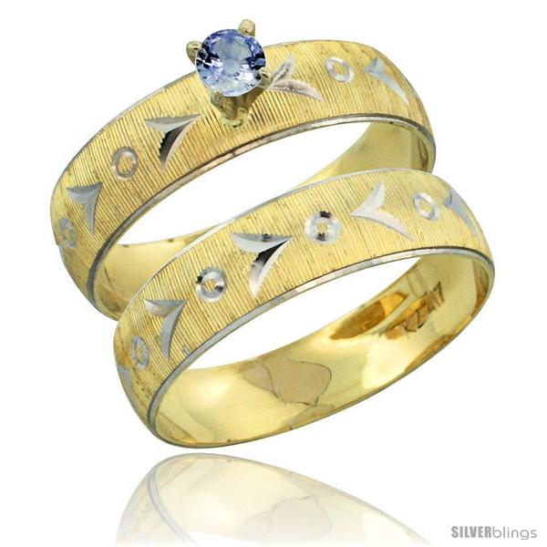 https://www.silverblings.com/31497-thickbox_default/10k-gold-ladies-2-piece-0-25-carat-light-blue-sapphire-engagement-ring-set-diamond-cut-pattern-rhodium-accent-style-10y507e2.jpg