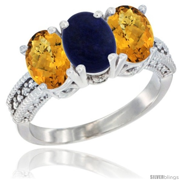 https://www.silverblings.com/31581-thickbox_default/10k-white-gold-natural-lapis-whisky-quartz-sides-ring-3-stone-oval-7x5-mm-diamond-accent.jpg