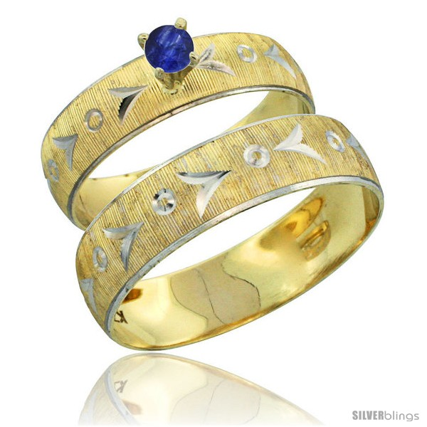 https://www.silverblings.com/31692-thickbox_default/10k-gold-2-piece-0-25-carat-deep-blue-sapphire-ring-set-engagement-ring-mans-wedding-band-diamond-cut-style-10y507em.jpg