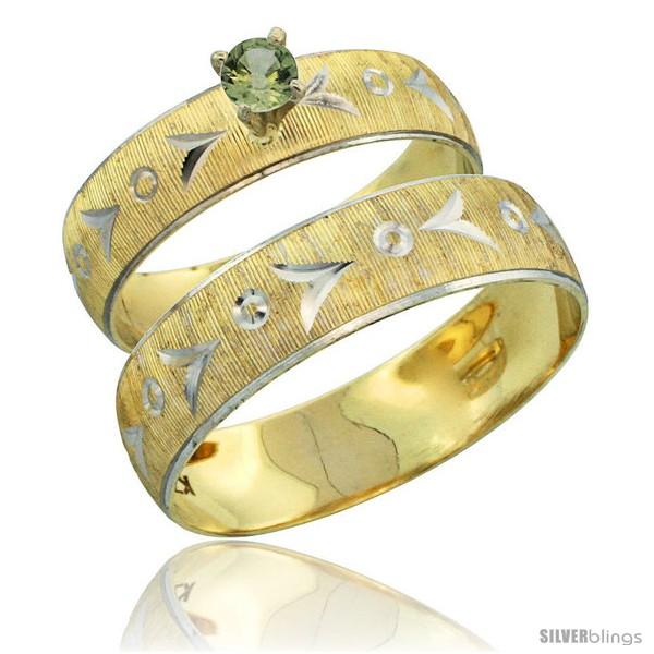 https://www.silverblings.com/31696-thickbox_default/10k-gold-2-piece-0-25-carat-green-sapphire-ring-set-engagement-ring-mans-wedding-band-diamond-cut-pattern-style-10y507em.jpg