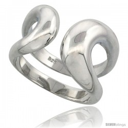 Sterling Silver Double Wire Ring Flawless finish, 5/8 in wide