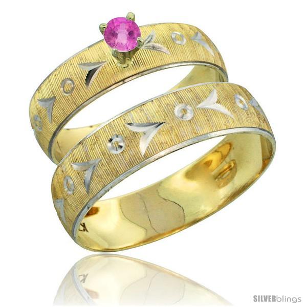 https://www.silverblings.com/31714-thickbox_default/10k-gold-2-piece-0-25-carat-pink-sapphire-ring-set-engagement-ring-mans-wedding-band-diamond-cut-pattern-style-10y507em.jpg