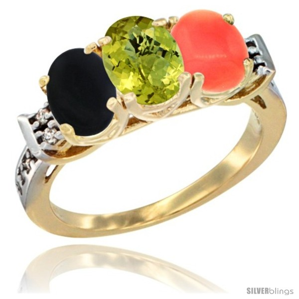 https://www.silverblings.com/32001-thickbox_default/10k-yellow-gold-natural-black-onyx-lemon-quartz-coral-ring-3-stone-oval-7x5-mm-diamond-accent.jpg