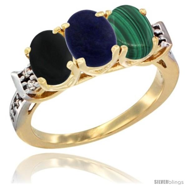 https://www.silverblings.com/32246-thickbox_default/10k-yellow-gold-natural-black-onyx-lapis-malachite-ring-3-stone-oval-7x5-mm-diamond-accent.jpg
