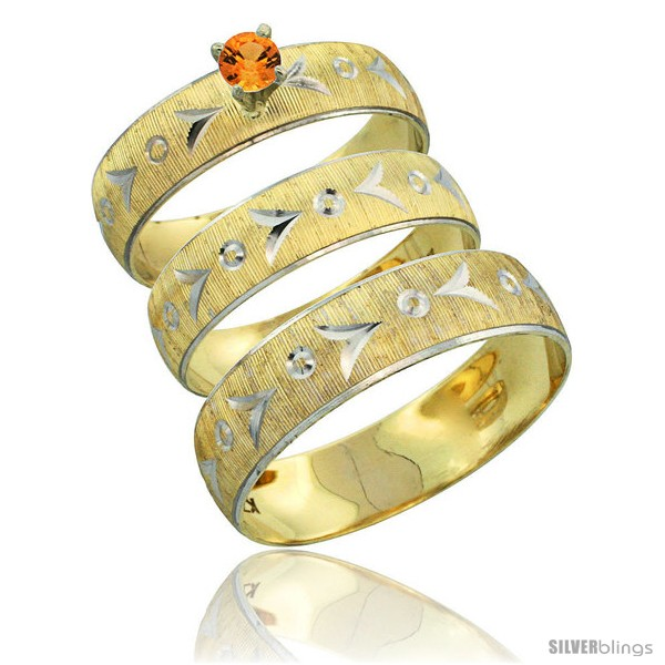 https://www.silverblings.com/32272-thickbox_default/10k-gold-3-piece-trio-orange-sapphire-wedding-ring-set-him-her-0-10-ct-rhodium-accent-diamond-cut-pattern-style-10y507w3.jpg