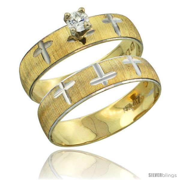 https://www.silverblings.com/32290-thickbox_default/10k-gold-ladies-2-piece-0-10-carat-diamond-engagement-ring-set-diamond-cut-pattern-rhodium-accent-3-16-in-style-10y508e2.jpg