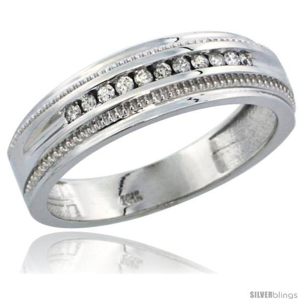 https://www.silverblings.com/32321-thickbox_default/10k-white-gold-11-stone-milgrain-design-mens-diamond-ring-band-w-0-30-carat-brilliant-cut-diamonds-1-4-in-6-5mm-wide.jpg
