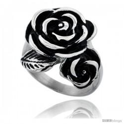Stainless Steel Rose Flower 7/8 in long