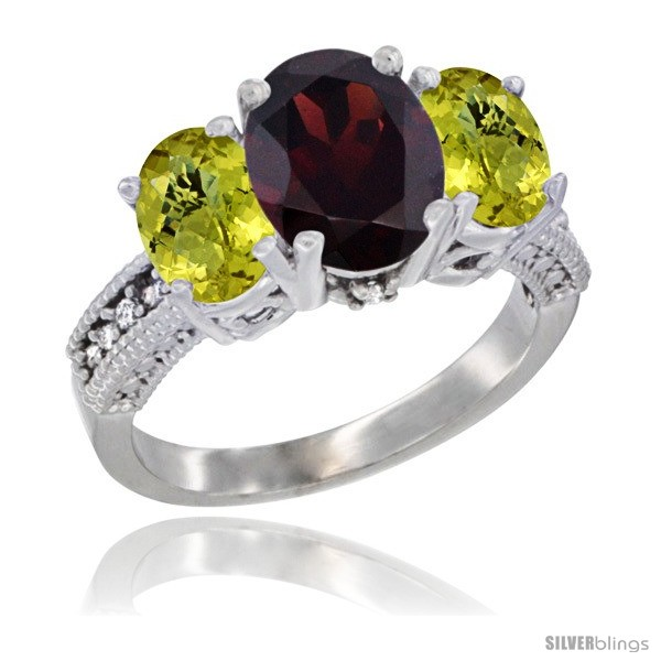 https://www.silverblings.com/32434-thickbox_default/10k-white-gold-ladies-natural-garnet-oval-3-stone-ring-lemon-quartz-sides-diamond-accent.jpg