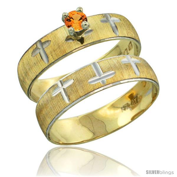 https://www.silverblings.com/32571-thickbox_default/10k-gold-ladies-2-piece-0-25-carat-orange-sapphire-engagement-ring-set-diamond-cut-pattern-rhodium-accent-style-10y508e2.jpg