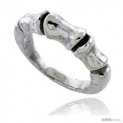 Sterling Silver Bamboo Design Ring