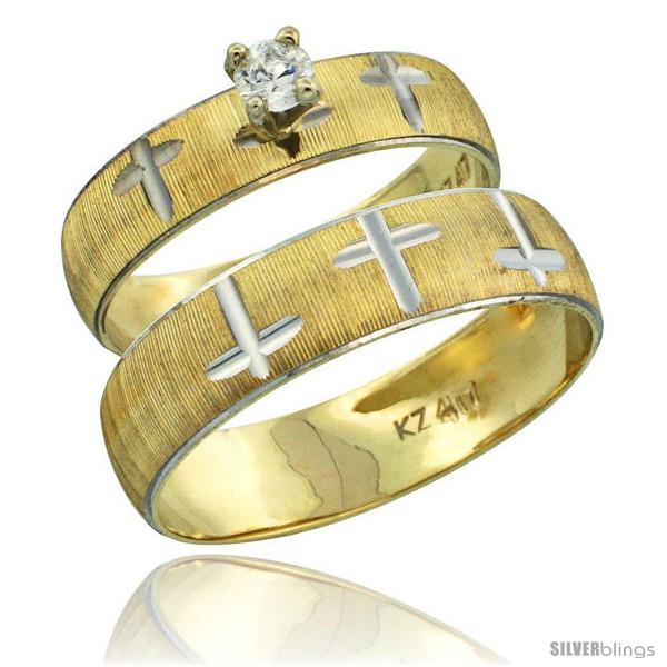 https://www.silverblings.com/32868-thickbox_default/10k-gold-2-piece-0-25-carat-white-sapphire-ring-set-engagement-ring-mans-wedding-band-diamond-cut-pattern-style-10y508em.jpg