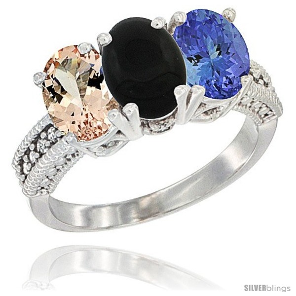 https://www.silverblings.com/33-thickbox_default/10k-white-gold-natural-morganite-black-onyx-tanzanite-ring-3-stone-oval-7x5-mm-diamond-accent.jpg