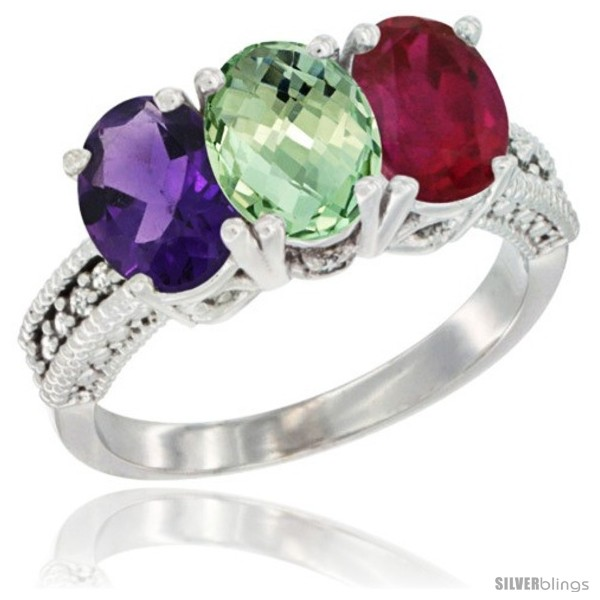 https://www.silverblings.com/33151-thickbox_default/10k-white-gold-natural-amethyst-green-amethyst-ruby-ring-3-stone-oval-7x5-mm-diamond-accent.jpg