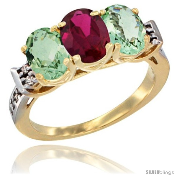 https://www.silverblings.com/3348-thickbox_default/10k-yellow-gold-natural-ruby-green-amethyst-sides-ring-3-stone-oval-7x5-mm-diamond-accent.jpg