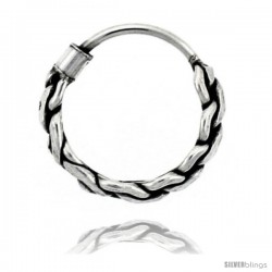 "Sterling Silver Teeny Bali Hoop Earrings, 1/2"" diameter"
