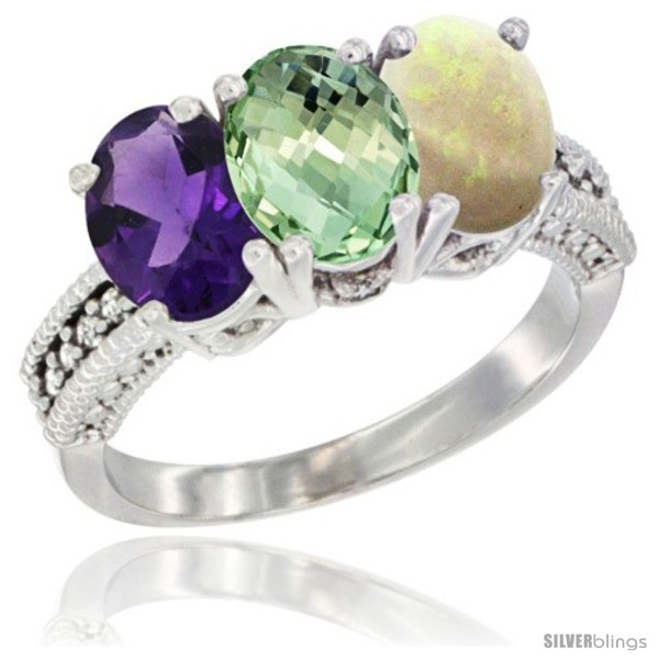https://www.silverblings.com/33584-thickbox_default/10k-white-gold-natural-amethyst-green-amethyst-opal-ring-3-stone-oval-7x5-mm-diamond-accent.jpg