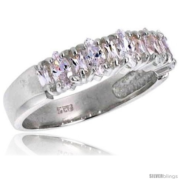 https://www.silverblings.com/3403-thickbox_default/highest-quality-sterling-silver-3-16-in-5-mm-wide-wedding-band-marquise-cut-cz-stones.jpg