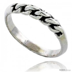 Sterling Silver Rope Link Ring