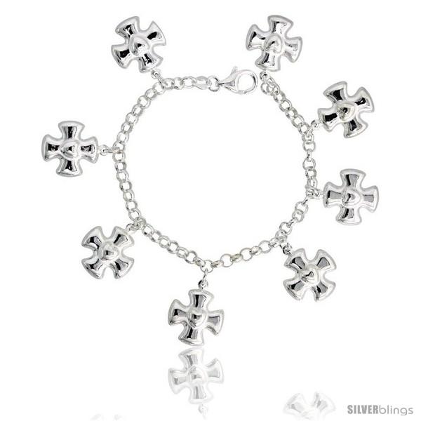 https://www.silverblings.com/34514-thickbox_default/sterling-silver-heart-on-maltese-cross-charm-bracelet-15-16-24-mm-wide.jpg