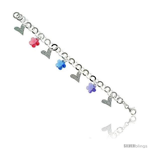 https://www.silverblings.com/34566-thickbox_default/sterling-silver-italian-charm-bracelet-w-hearts-swarovski-crystal-flower-pendants-3-4-19-mm-wide.jpg