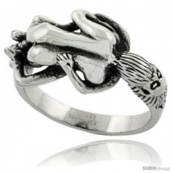Surgical Steel Biker Ring Biker Love Making Couple 9/16 in wide