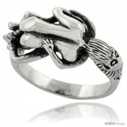 Surgical Steel Biker Ring Biker Love Making Couple 9/16 in wide