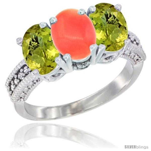 https://www.silverblings.com/35379-thickbox_default/10k-white-gold-natural-coral-lemon-quartz-sides-ring-3-stone-oval-7x5-mm-diamond-accent.jpg