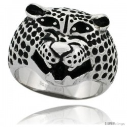 Surgical Steel Biker Ring Panther 3/4 in