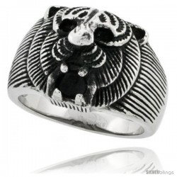 Surgical Steel Biker Ring Tiger 11/16 in