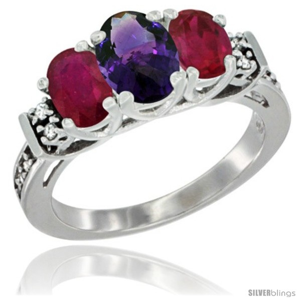 https://www.silverblings.com/35519-thickbox_default/14k-white-gold-natural-amethyst-ruby-ring-3-stone-oval-diamond-accent.jpg