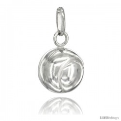 Sterling Silver Hollow Tennis Ball Charm Made in Italy 1/2 in Full Round