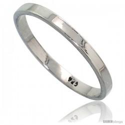 Sterling Silver 2.2 mm Flat Wedding Band Thumb Ring