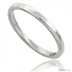 Sterling Silver 1.7 mm Flat Wedding Band Thumb Ring