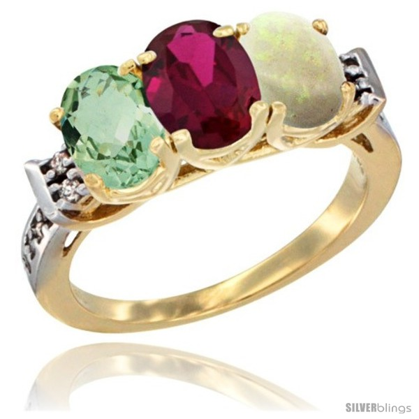 https://www.silverblings.com/3599-thickbox_default/10k-yellow-gold-natural-green-amethyst-ruby-opal-ring-3-stone-oval-7x5-mm-diamond-accent.jpg