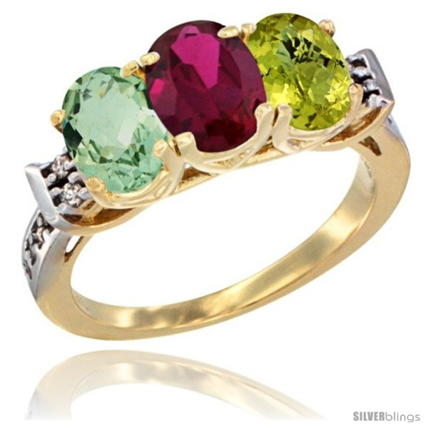 https://www.silverblings.com/3605-thickbox_default/10k-yellow-gold-natural-green-amethyst-ruby-lemon-quartz-ring-3-stone-oval-7x5-mm-diamond-accent.jpg