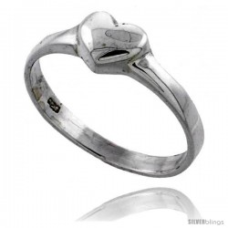 Sterling Silver Heart Ring 1/4 in wide