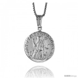 Sterling Silver St. Jude Medal, Made in Italy. 5/8 in. (17 mm) in Diameter.