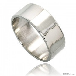 Sterling Silver 9 mm Flat Wedding Band
