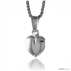 Sterling Silver Teeny Heart Pendant, Made in Italy. 5/16 in. (8 mm) Tall -Style Iph120