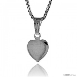 Sterling Silver Teeny Heart Pendant, Made in Italy. 5/16 in. (8 mm) Tall -Style Iph121