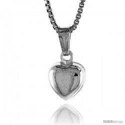 Sterling Silver Teeny Heart Pendant, Made in Italy. 5/16 in. (8 mm) Tall -Style Iph119