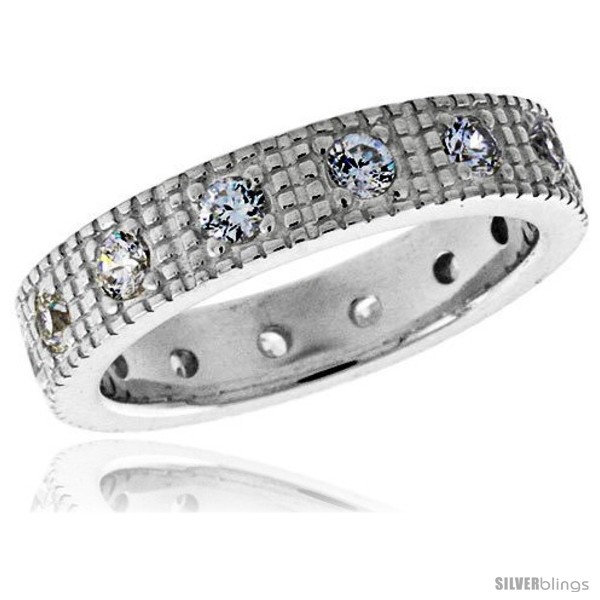https://www.silverblings.com/3715-thickbox_default/highest-quality-sterling-silver-3-16-in-5-mm-wide-fancy-ladies-band-brilliant-cut-cz-stones.jpg